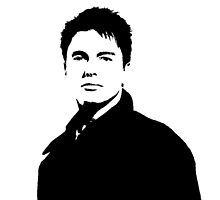 Captain Jack Harkness - B&W by amandawlzr
