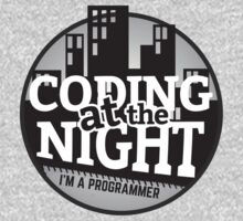 Programmer T-shirt : Coding at the night by dmcloth