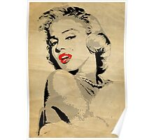 Marilyn Monroe 3 Colour (Aged) Poster