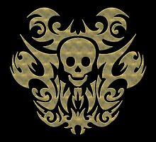 skull tattoo by fuxart