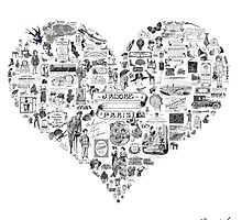 Vintage French heart by MariondeLauzun