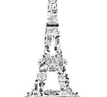 Vintage Eiffel Tower collage by MariondeLauzun