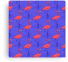 Fifties Flamingo Canvas Print