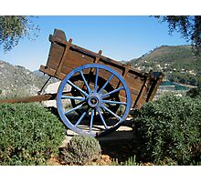A rustic wooden cart Photographic Print