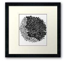 Scribble Head Clear Framed Print