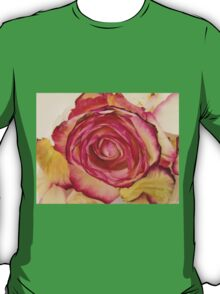 White Pink rose with petals 4 T-Shirt