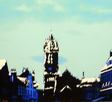 The High Street, Peebles (digitally enhanced photograph) by BillCowe