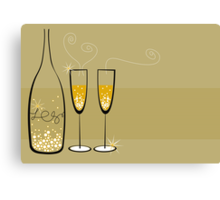 Champagne Bubbles Celebration Canvas Print