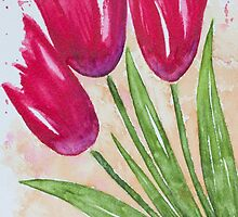 Casual Tulips by Julie Myers
