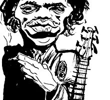 jimi hendrix - ink on paper by nicholaslester