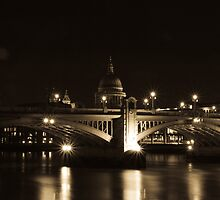 Southwark Bridge - London by James Hughes