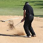 Golf Bunker Action! by caz60B