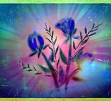 Blue flowers for a blue day by Anna  Lewis