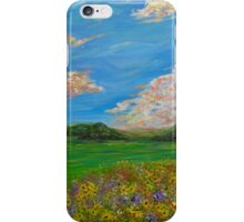 Sunflower Valley impressionism landscape painting iPhone Case/Skin