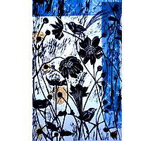 Japanase Windflowers - Chine Colle Woodcut Photographic Print