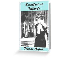 Breakfast at Tiffany's by Truman Capote Post Card Audrey Hepburn Greeting Card