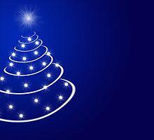 Christmas tree with stars by joggi2002