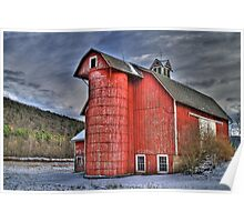 Red Silo Poster