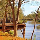 Moulamein Wharf by Clive