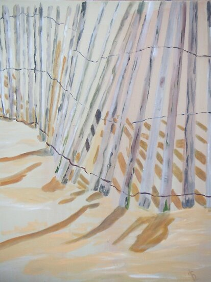 Beach Fence by Susan Brown