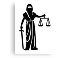 Justitia court Canvas Print