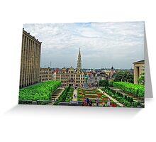 Mont des Arts, Brussels, Belgium Greeting Card