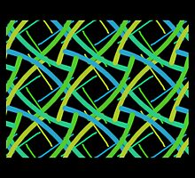 Nice squares, green, yellow and black, BOLD pattern GEO by ackelly4