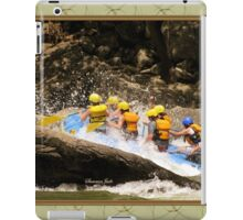 New River Whitewater Raft Spray iPad Case/Skin