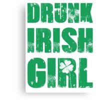 Drunk Irish Girl Canvas Print