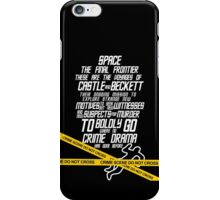 Castle The Final Frontier- v2b iPhone Case/Skin