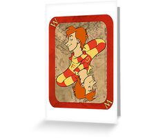 Fred and George Playing Card Greeting Card