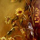 Bluebird and Sunflowers by Monica Vanzant