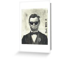 Baberaham Lincoln Greeting Card