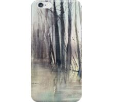 Flood at river near Montreal. iPhone Case/Skin