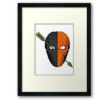 Deathstroke vs Arrow Framed Print