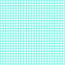 White Hearts (mint) by Denise Abé