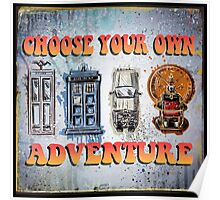 Time Machine Art Dr Who Bill and Ted Excellent Adventure Back to the future delorean tardis h g wells choose your own adventure Poster