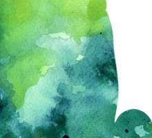 Penguin silhouette painting watercolor art print Sticker