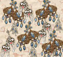 National earrings by lelita