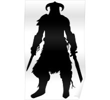Skyrim Character Silhouette Poster