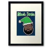 Black Santa Framed Print