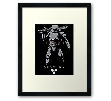 Destiny Titan Action Figure Framed Print