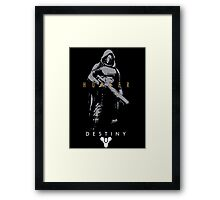 Destiny Hunter Action Figure Framed Print