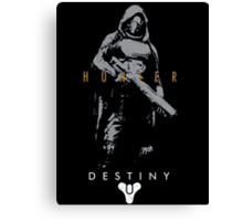 Destiny Hunter Action Figure Canvas Print