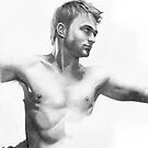 Daniel Radcliffe - a drawing in progress by David J. Vanderpool