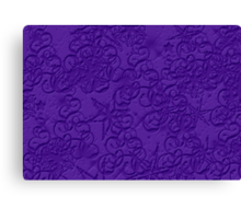 Purple Pattern Canvas Print