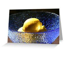 Blue and Lemons Greeting Card