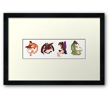 Dragon Doodles Framed Print
