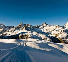 Winter trail at Riffelberg by peterwey