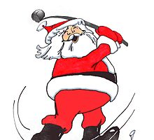 Santa Golfing! by graphicdoodles